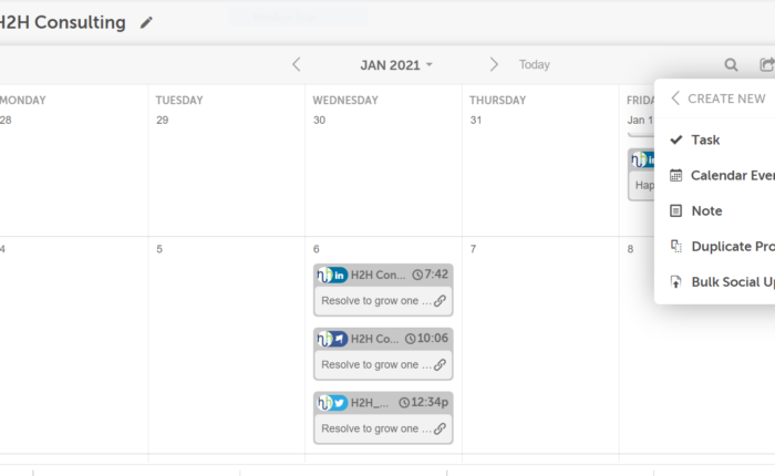 Creating tasks is easy with the CoSchedule marketing calendar