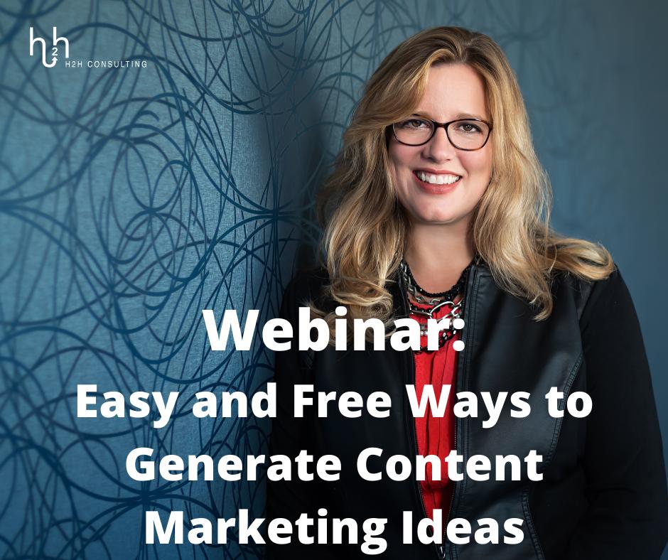 Webinar on Content Marketing Ideas
