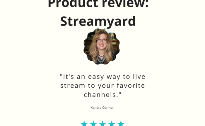 We recommend Streamyard as a tool to live stream your video to social media.