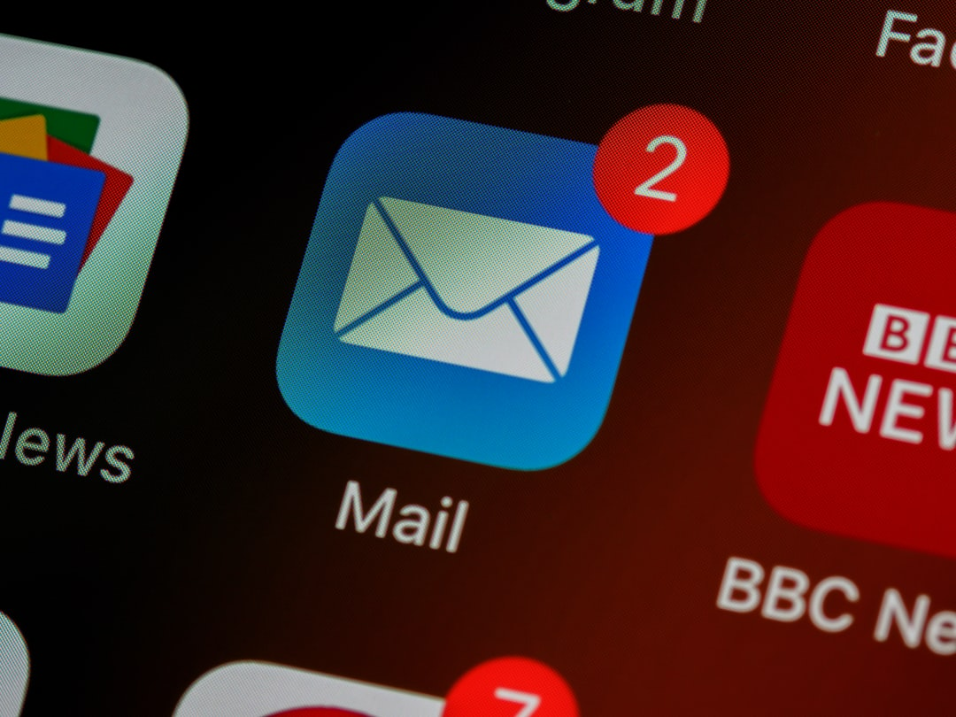 email marketing messages alert on a smart phone